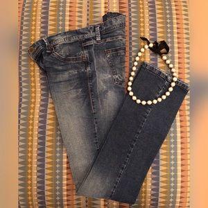 BENETTON Straight-Leg Slim-Fit Italian Jeans Sz 30